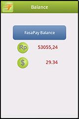 FasaPay Mobile Application - Periksa Saldo Setiap Saat