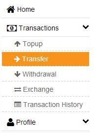 menu Transaksi-Transfer